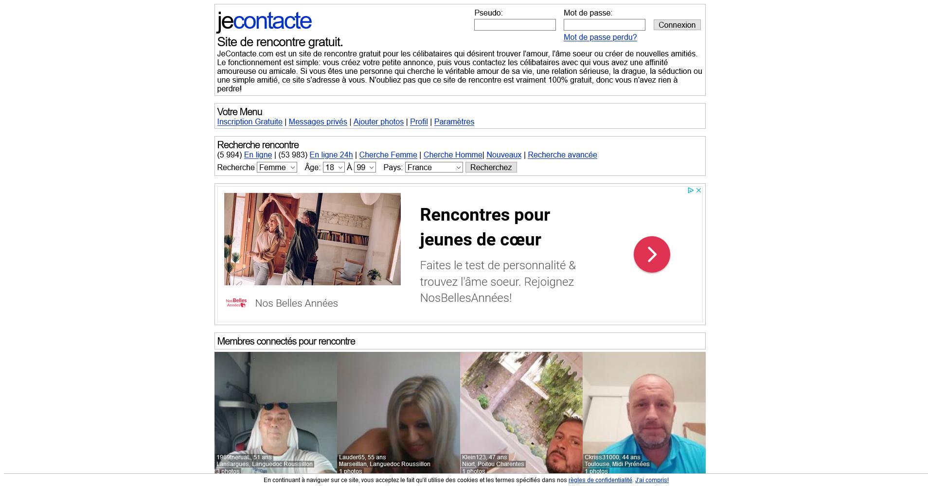 Jecontacte:Site de rencontre - Sites de rencontres en france